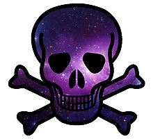 Galaxy Skull Photographic Print