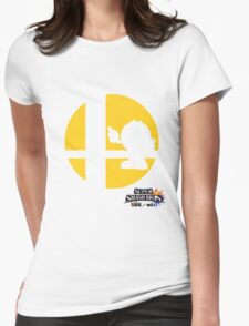 Super Smash Bros - Pac-Man Womens Fitted T-Shirt