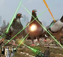 Oh no! It's an Intergalactic dOve Invader Stampede! by Kenny Irwin