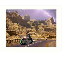 Zabber Dast Pakistani Hyper Drive Cycle V-400 Art Print