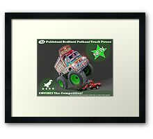 Pakistan's Newest Line-up of Rugged Hand Crafted Utility Vehicles Framed Print