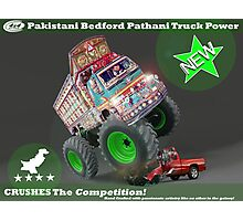 Pakistan's Newest Line-up of Rugged Hand Crafted Utility Vehicles Photographic Print