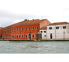 Water Taxi View of Venice Photographic Print