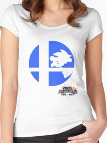 Super Smash Bros - Sonic Women's Fitted Scoop T-Shirt