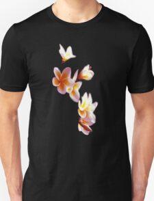 Frangipani #3 Black Vee Neck T-Shirt