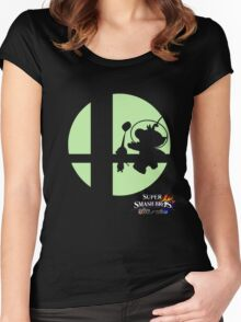 Super Smash Bros - Olimar and Pikmin Women's Fitted Scoop T-Shirt