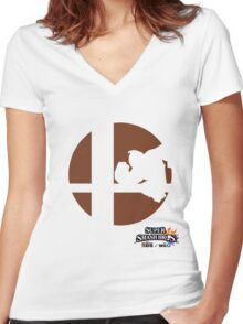 Super Smash Bros - Donkey Kong Women's Fitted V-Neck T-Shirt