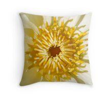 White Water Lily - Sydney Royal Botanic Gardens, NSW Throw Pillow