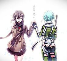 Sinon Handshake by Revoltec17