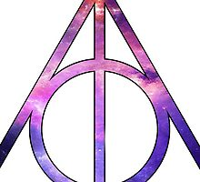 Harry Potter Deathly Hallows Galaxy Trippy by Budnick3000