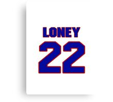 National baseball player James Loney jersey 22 Canvas Print