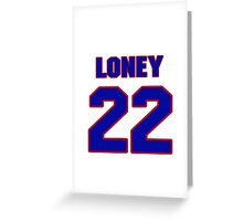 National baseball player James Loney jersey 22 Greeting Card