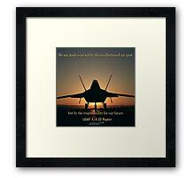 F/A 22 Raptor Framed Print