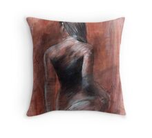 rear view figure 19 Throw Pillow