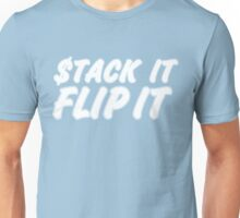 "STACK IT FLIP IT ""BLUE 11's"" white Unisex T-Shirt"