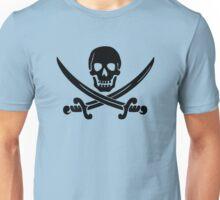 Calico Jack Pirate Flag - Black Unisex T-Shirt