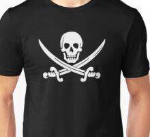 Calico Jack Pirate Flag T-Shirt - White Unisex T-Shirt