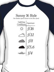 Sunny 16 Rule - Black T-Shirt
