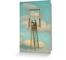 WINDOW CLEANER IN THE SKY 02 Greeting Card