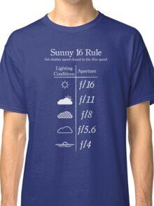 Sunny 16 Rule - White Classic T-Shirt