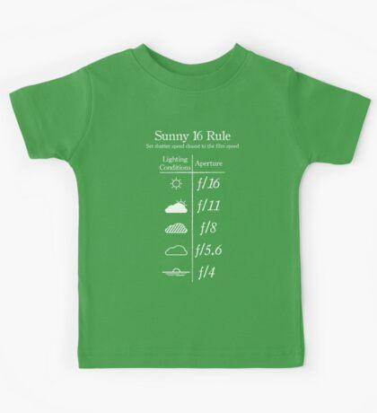 Sunny 16 Rule - White Kids Tee