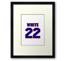 National baseball player Abe White jersey 22 Framed Print
