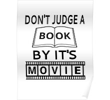 Don't Judge A Book By It's Movie Poster