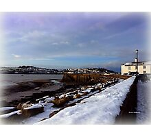 A Village in Snow Photographic Print