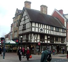 Market day Oswestry Town Centre by musicmad