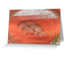 Manatees Greeting Card