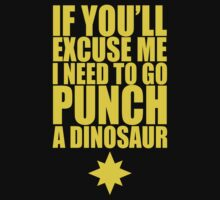 Punch A Dinosaur by psychoandy