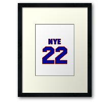 National baseball player Rich Nye jersey 22 Framed Print