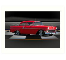 1956 Chevrolet 'Post' Coupe Art Print