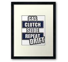 Gas clutch slide drift Framed Print