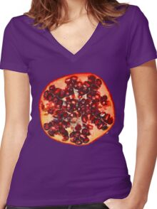 Pomegranate Women's Fitted V-Neck T-Shirt