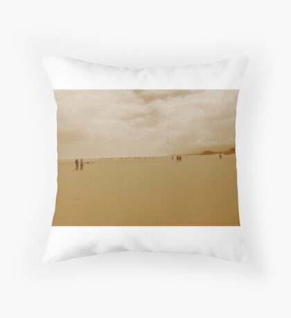 Tasmanian Beach Throw Pillow