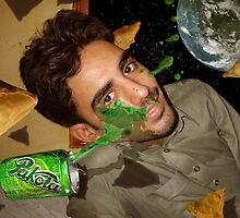 I am enjoying my Pakola and Samosas outside the orbit of Mars by Kenny Irwin