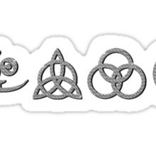 NEW DESIGN - Ancient Pagan Symbols (H) - Shine on You Crazy Diamond Sticker
