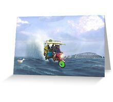 Mach Five Pakistani Punjabi Hoverpedishaw Taxi Greeting Card