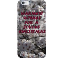 TO my RB friends....Warmest Wishes for a Joyous Christmas !! iPhone Case/Skin