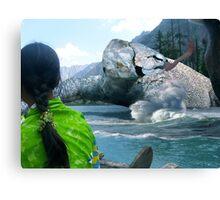 The Saiful Muluk lake Monster Canvas Print