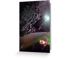 Karimabad Asteriod Colony in the Hunza Starsystem Greeting Card
