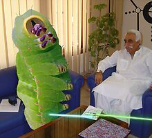 Inventor Bashir Reveals a new anti-dOve weapon to Beetlepillar Slugwasp by Kenny Irwin