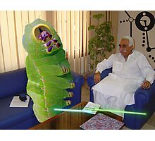 Inventor Bashir Reveals a new anti-dOve weapon to Beetlepillar Slugwasp Photographic Print