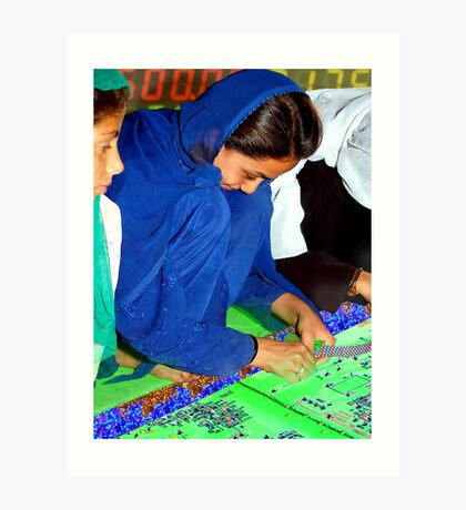 Electroweaving in Cholistan Art Print