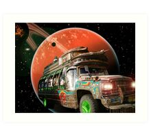 The Bedford Battlestar One is in Hot Pursuit of the Slorpain Bird Being Queen Art Print