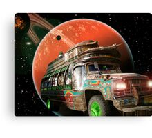 The Bedford Battlestar One is in Hot Pursuit of the Slorpain Bird Being Queen Canvas Print