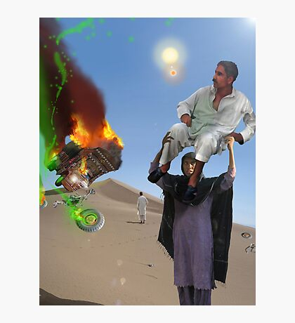A Woman has got to do a Man's job at the Crash landing on the Moon of New Khanpur Photographic Print