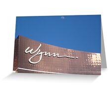 Wynn Sign Greeting Card