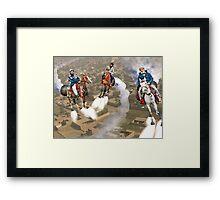 Peshawar پشاور Cronosphere Rocket Horse Racers Framed Print